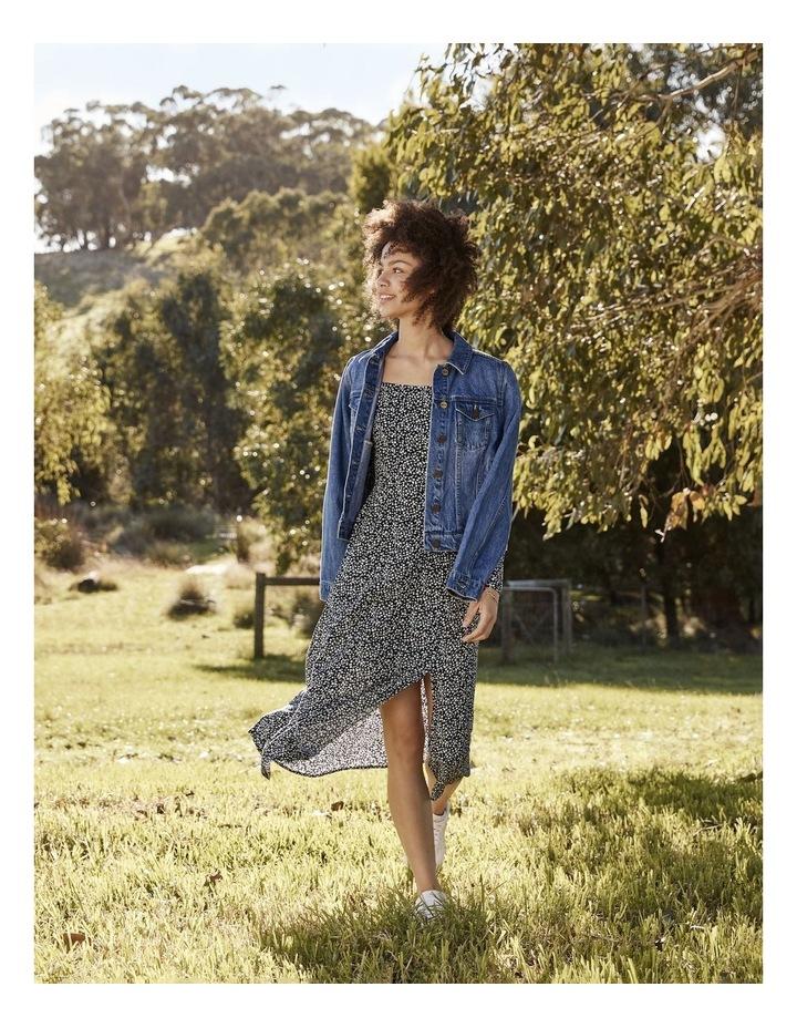 Long Sleeve Puff Midi Dress image 4