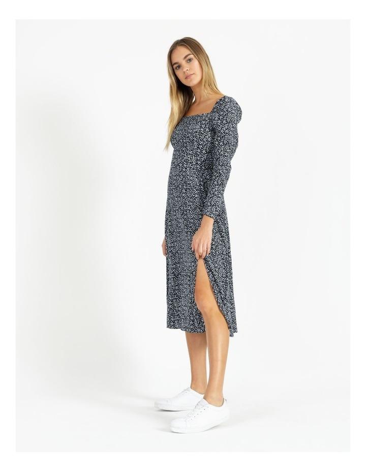 Long Sleeve Puff Midi Dress image 5