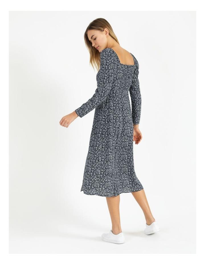 Long Sleeve Puff Midi Dress image 6