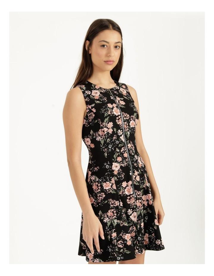 Zip Feature Fit & Flare Mini Dress image 1
