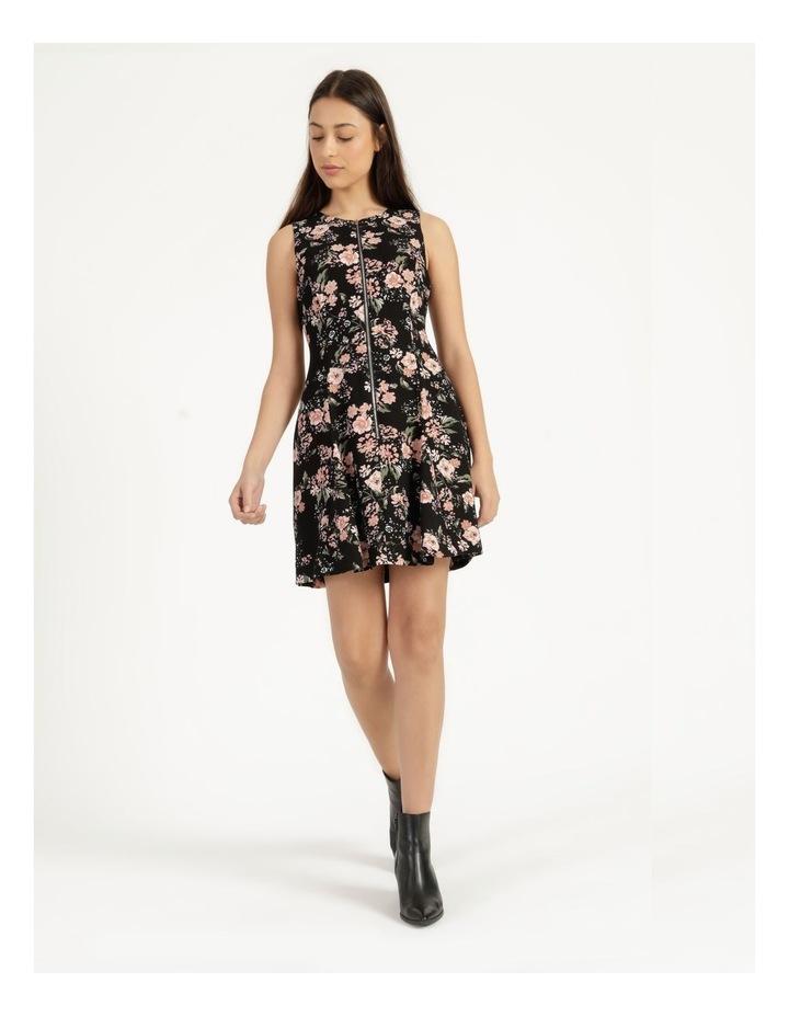 Zip Feature Fit & Flare Mini Dress image 2