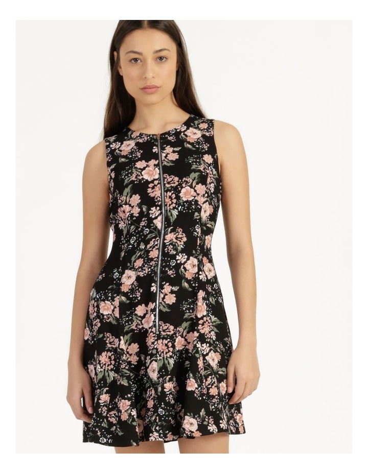 Zip Feature Fit & Flare Mini Dress image 4