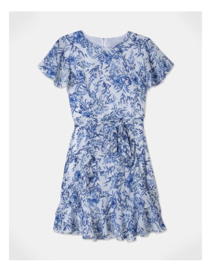 Flutter Sleeve Ruffle Mini Dress image 1