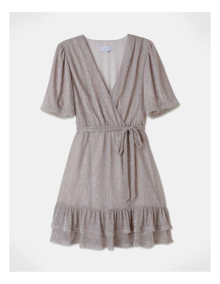 Metallic Plisse Mini Dress Blush image 1