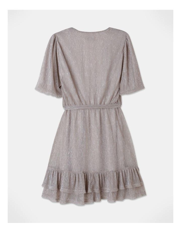 Metallic Plisse Mini Dress Blush image 3