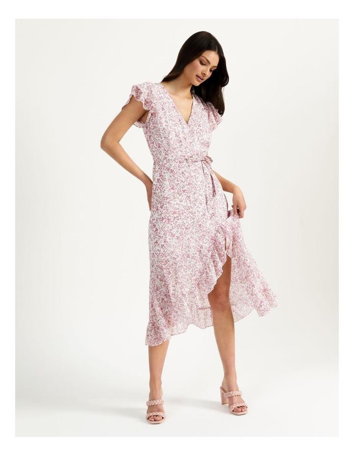 Ruffle Sleeve Wrap Maxi Dress image 1