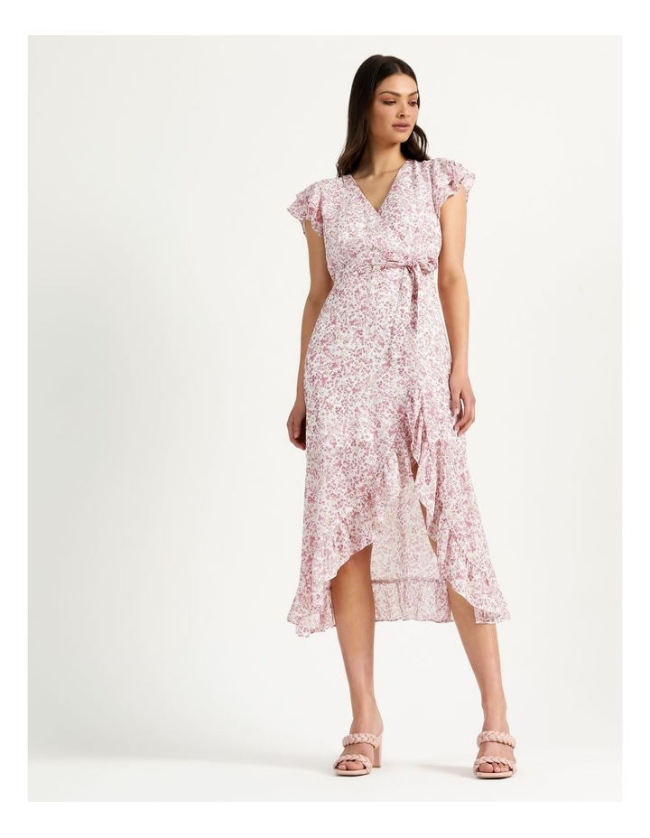 Ruffle Sleeve Wrap Maxi Dress image 2