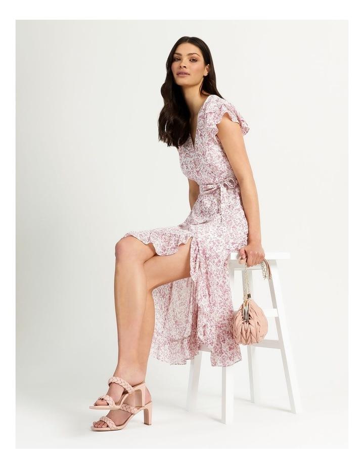 Ruffle Sleeve Wrap Maxi Dress image 3