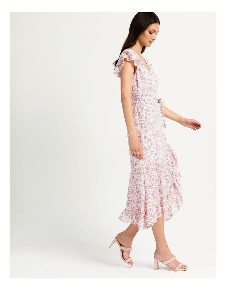 Ruffle Sleeve Wrap Maxi Dress image 4