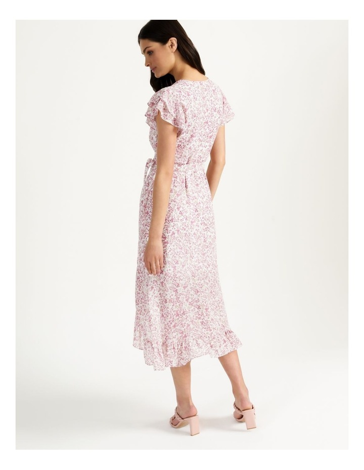 Ruffle Sleeve Wrap Maxi Dress image 5
