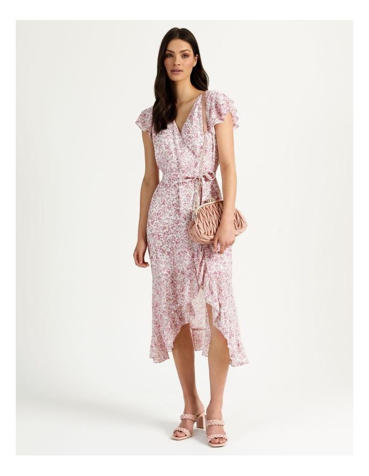 Ruffle Sleeve Wrap Maxi Dress image 7