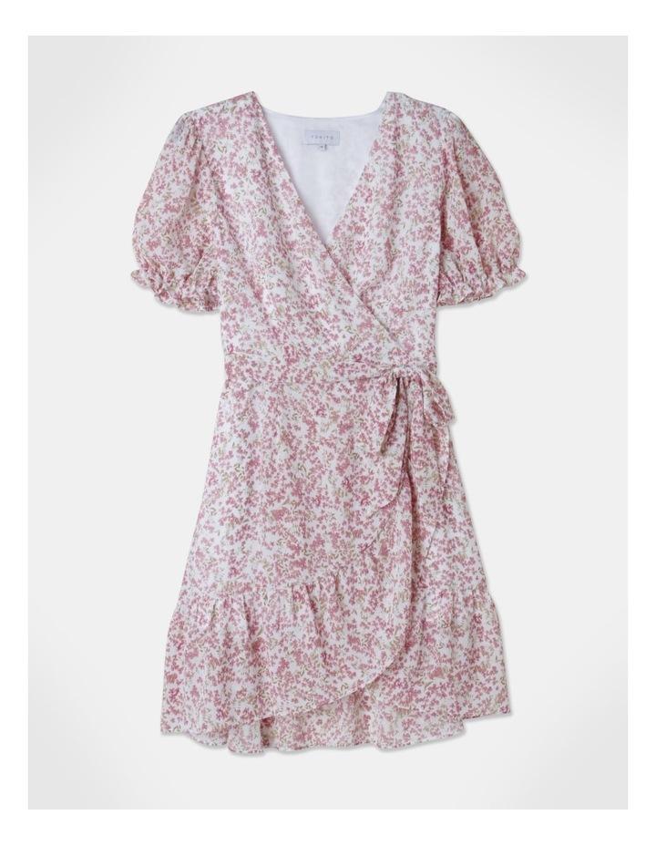 Puff Sleeve Wrap Mini Dress image 1
