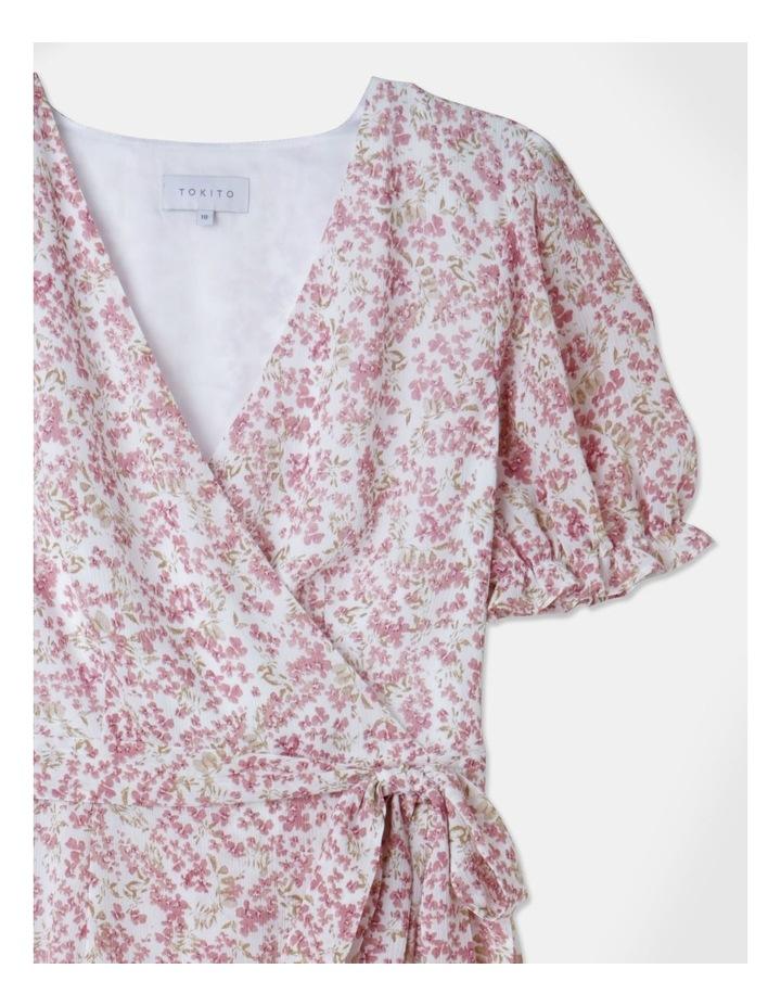Puff Sleeve Wrap Mini Dress image 2