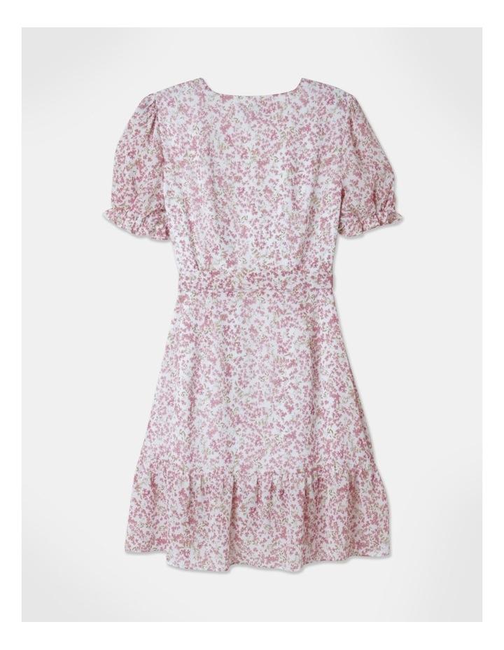 Puff Sleeve Wrap Mini Dress image 3