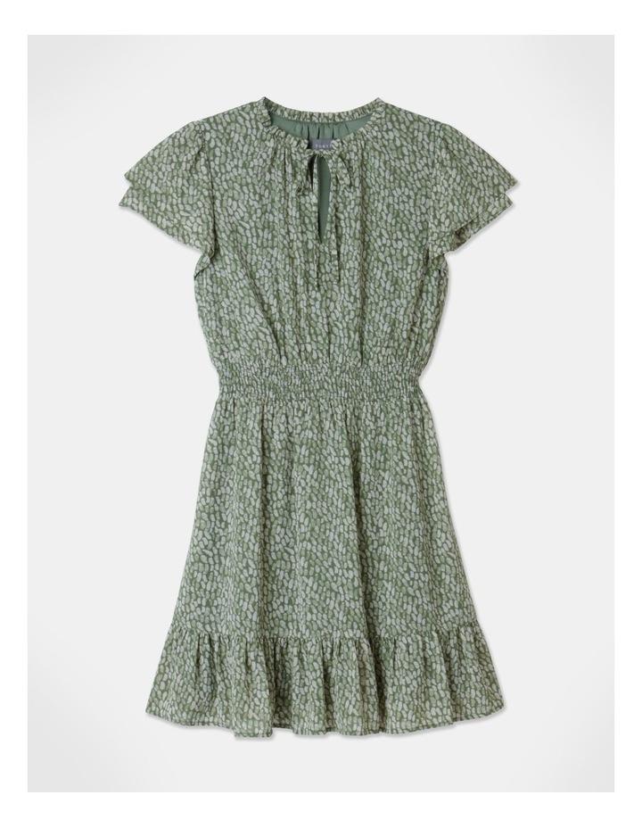 Ruffle Sleeve Shirred Mini Dress image 1