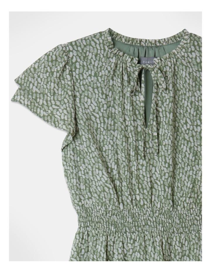 Ruffle Sleeve Shirred Mini Dress image 2