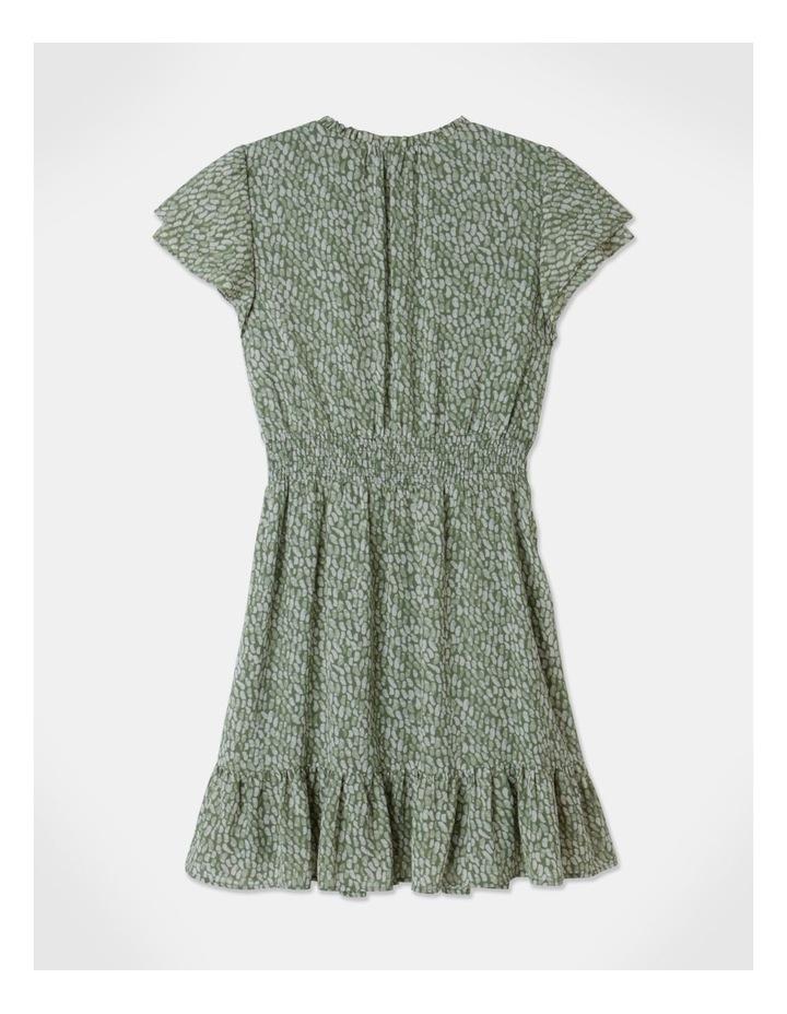 Ruffle Sleeve Shirred Mini Dress image 3