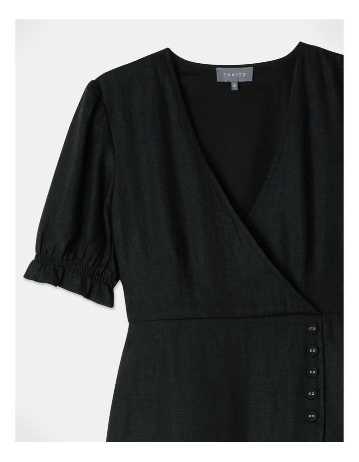 Button Detail Linen Blend Midi Dress image 2