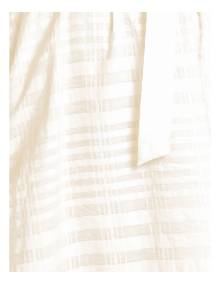 Cotton Blend Midi Dress Sheer Stripe image 7