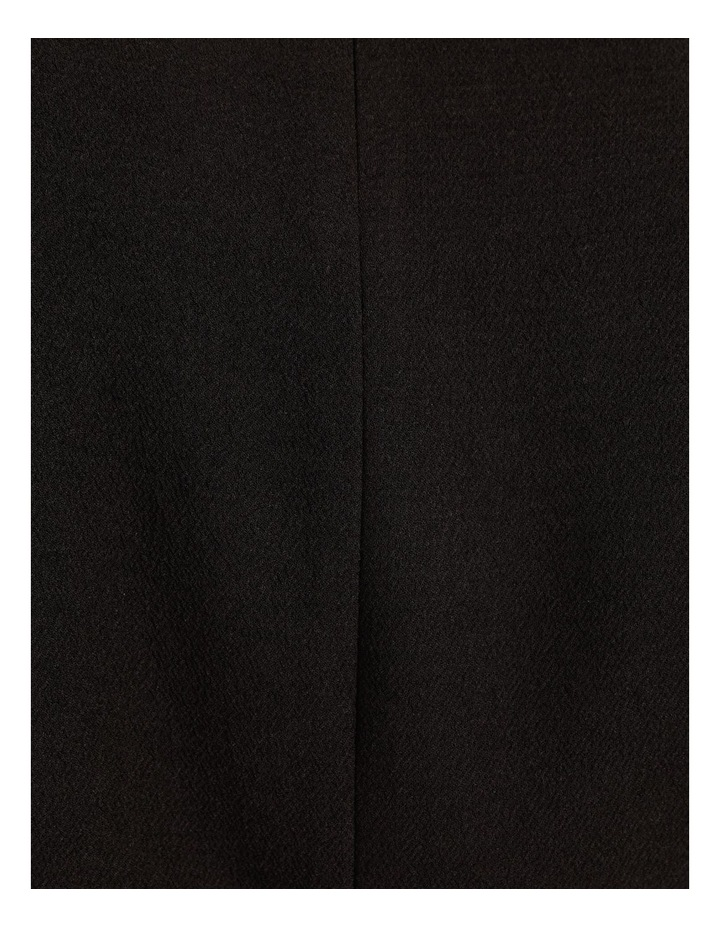 Puff Sleeve Stretch Crepe Mini Wrap Dress Black image 7