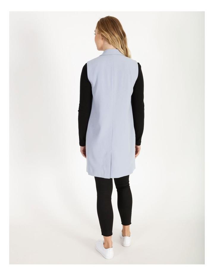 Petite Longline Sleeveless Crepe Vest image 3