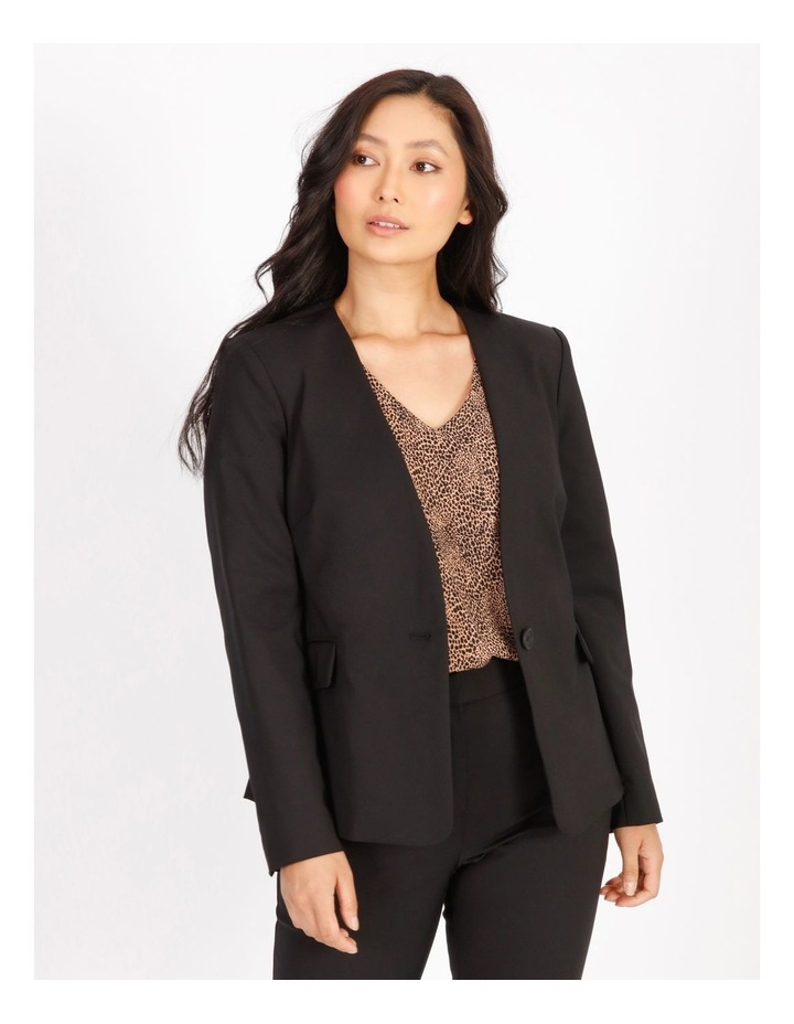 Petite Structured Cotton Sateen Blazer image 1