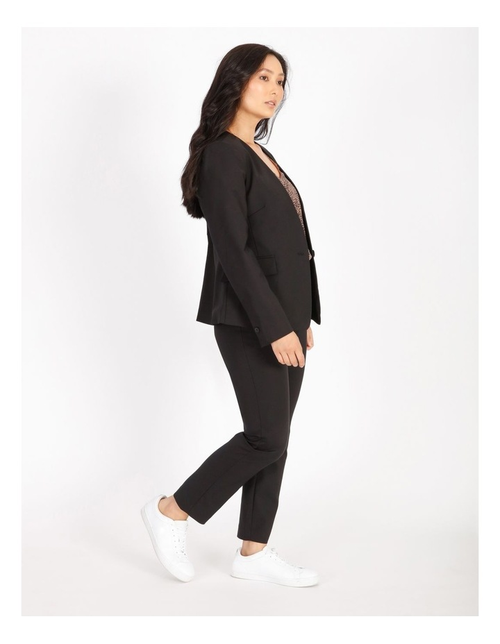 Petite Structured Cotton Sateen Blazer image 2