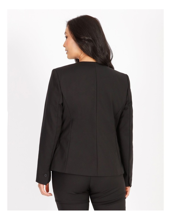 Petite Structured Cotton Sateen Blazer image 3