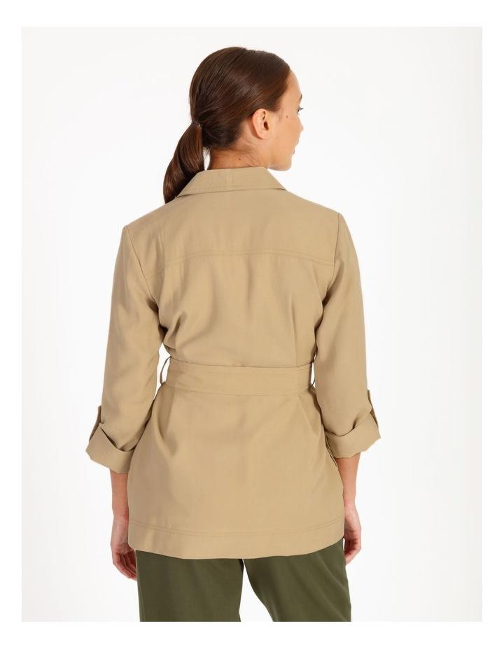 Petite Soft Wrap Jacket With Tie image 3