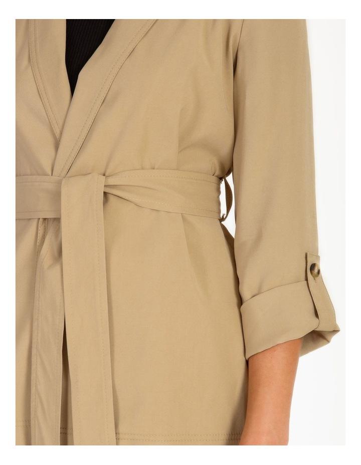 Petite Soft Wrap Jacket With Tie image 4