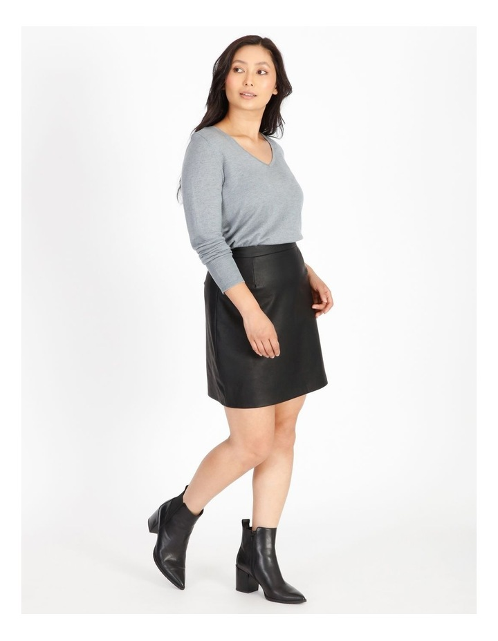 Relaxed V-Neck Wool Blend Knit Top image 2