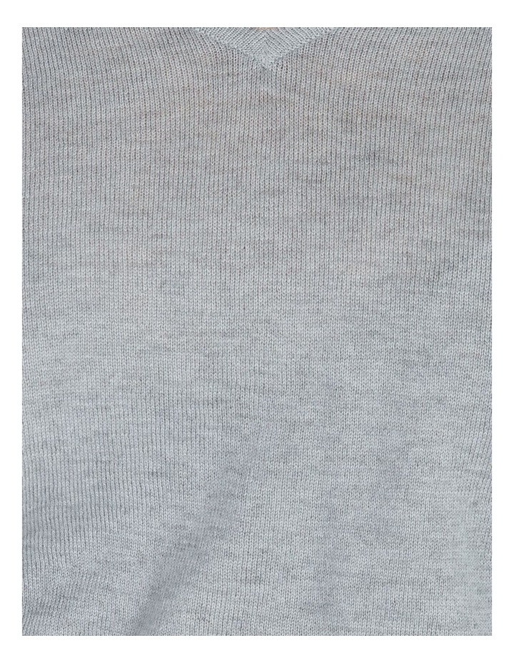Relaxed V-Neck Wool Blend Knit Top image 6