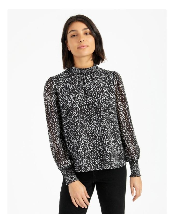 High Neck Shirred Blouse image 1