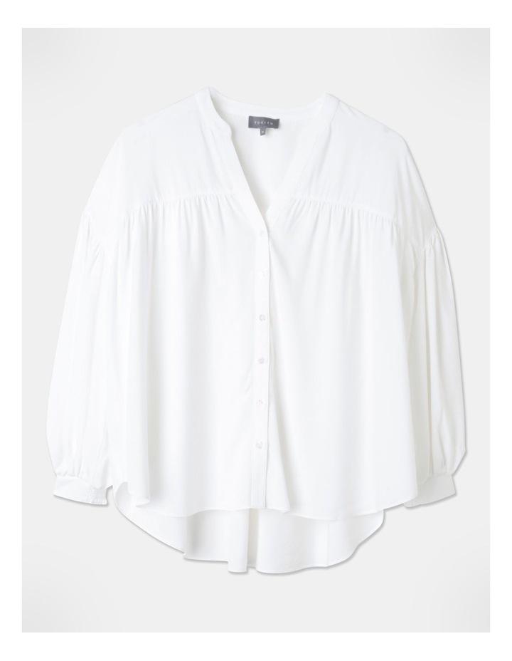 Petite Gathered Yoke Shirt White image 1