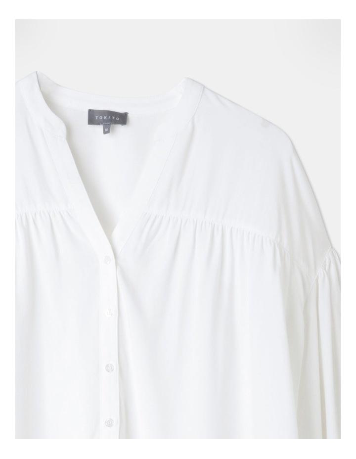 Petite Gathered Yoke Shirt White image 2