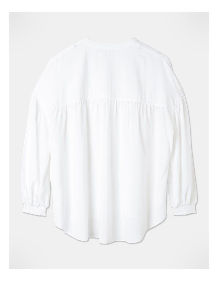 Petite Gathered Yoke Shirt White image 3