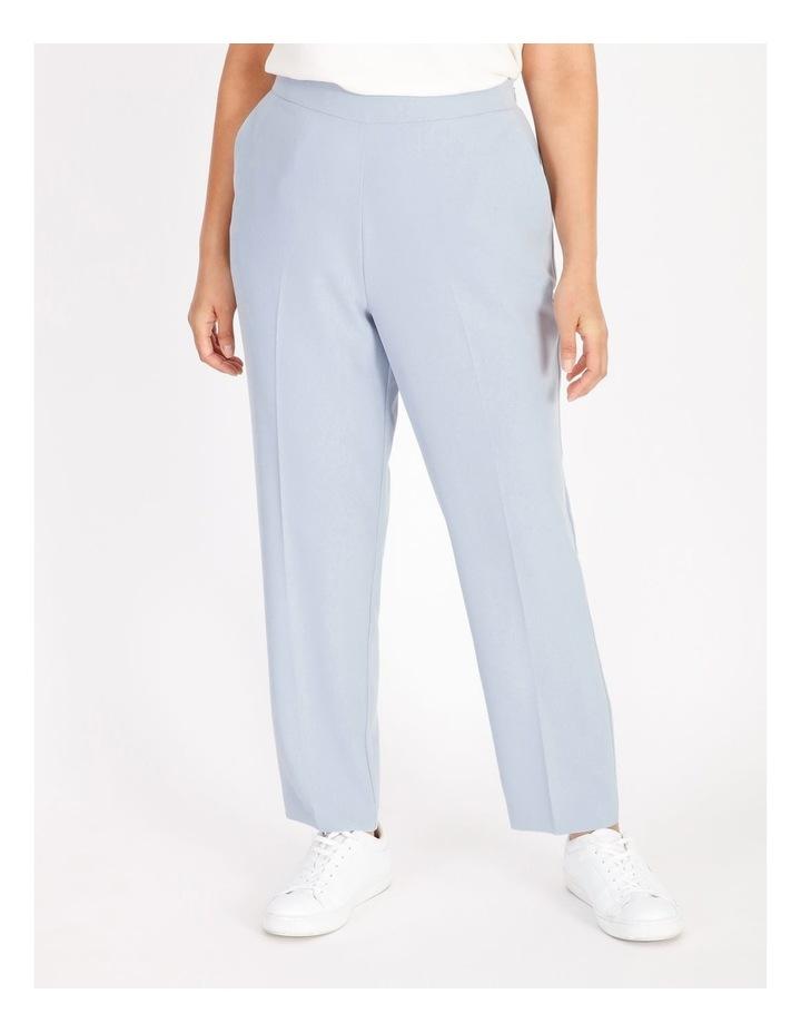 Petite Soft Elasticated Tapered Crepe Pants image 1