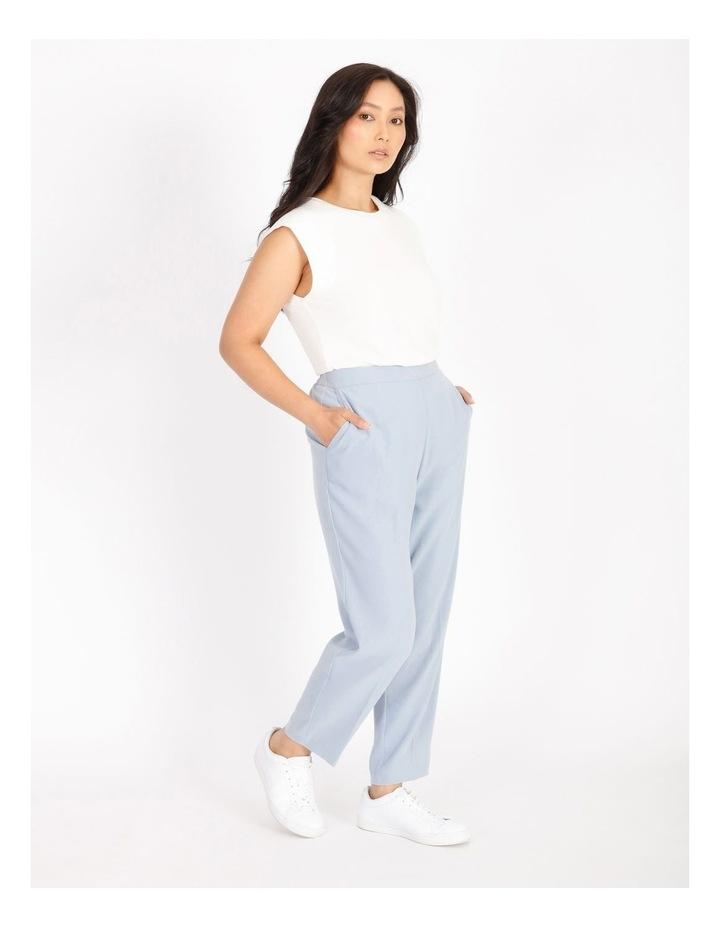 Petite Soft Elasticated Tapered Crepe Pants image 2