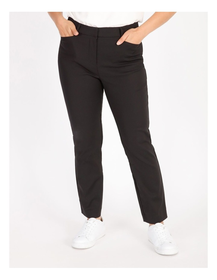 Petite Maya Mid Rise Cropped Length Cotton Sateen Pants image 1