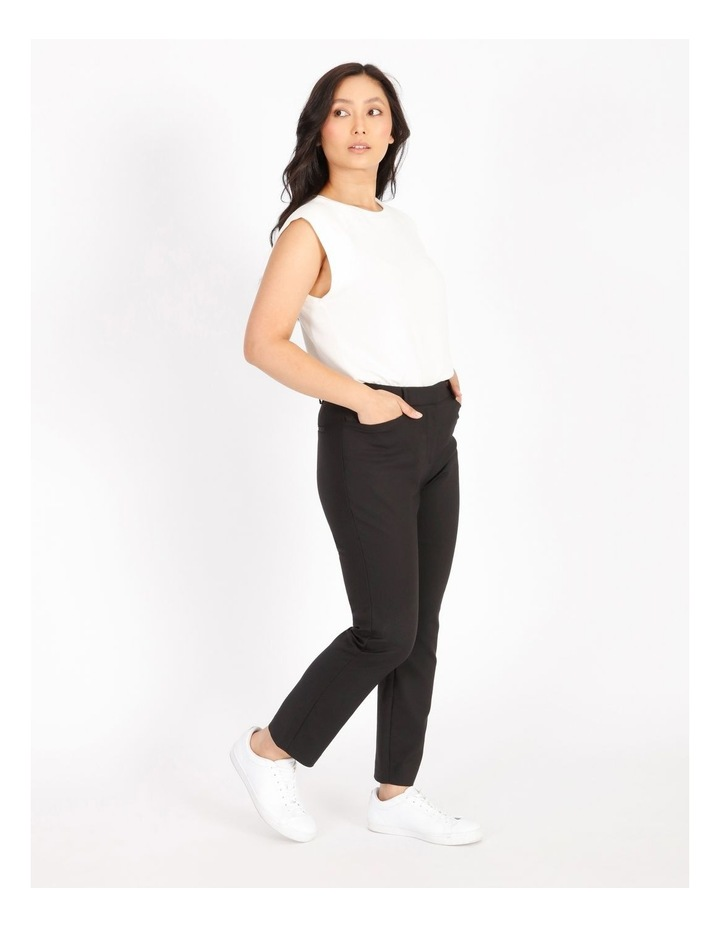Petite Maya Mid Rise Cropped Length Cotton Sateen Pants image 2