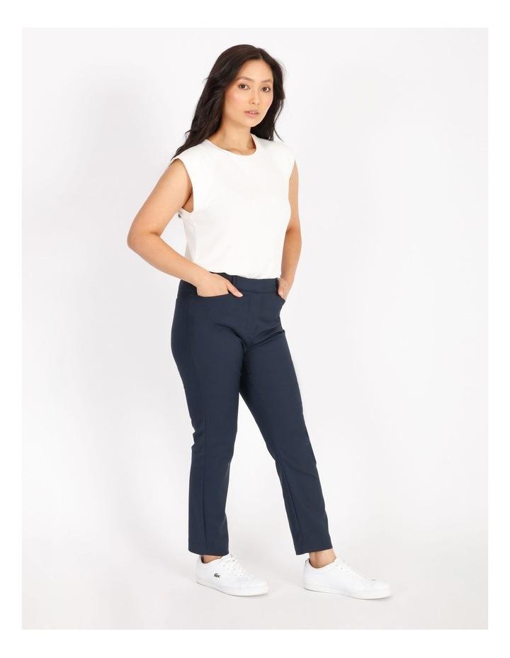 Petite Maya Mid Rise Cropped Length Cotton Sateen Pants image 2