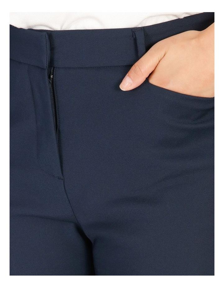 Petite Maya Mid Rise Cropped Length Cotton Sateen Pants image 4