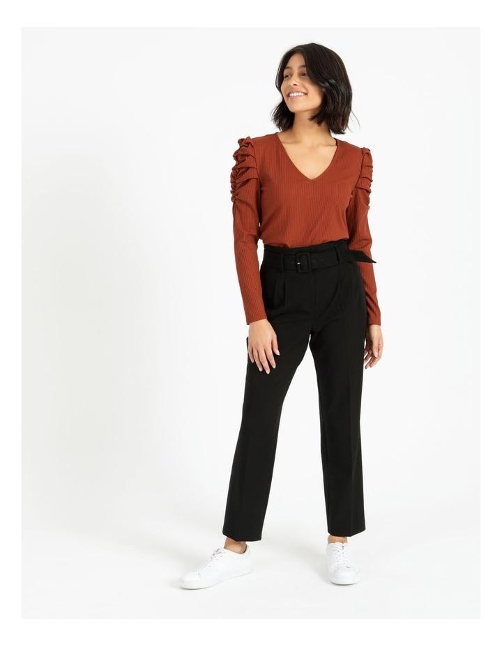 High Waist Tapered Belt Pants image 2