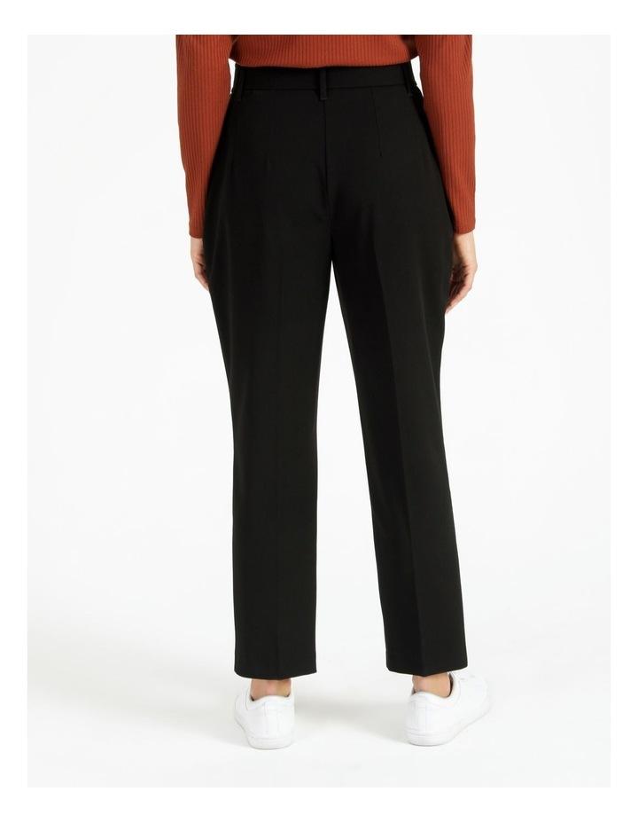 High Waist Tapered Belt Pants image 4