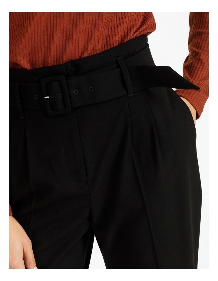 High Waist Tapered Belt Pants image 5