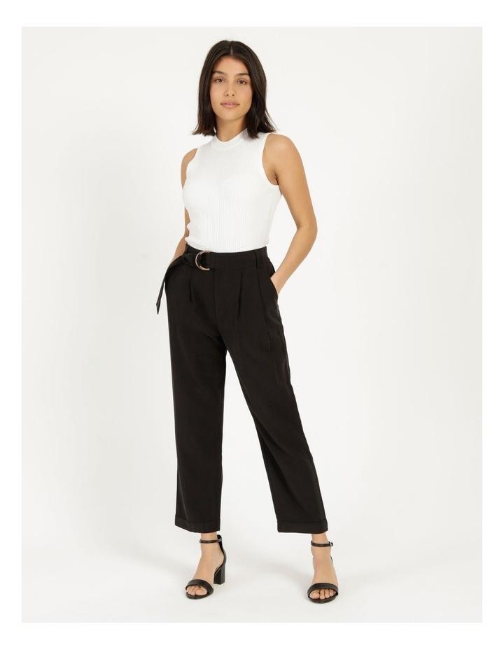 Belt Detail Elastic Tapered Pants image 1