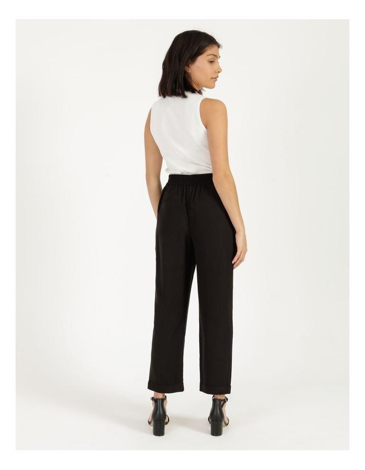 Belt Detail Elastic Tapered Pants image 4