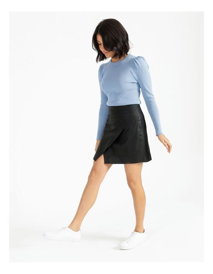 Faux Leather Asymmetrical Mini Skirt image 2