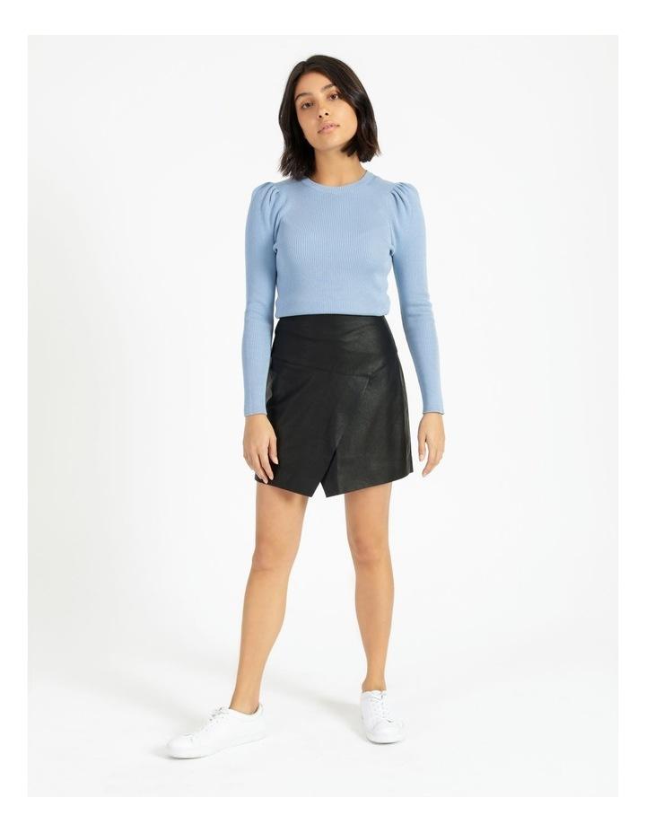 Faux Leather Asymmetrical Mini Skirt image 3