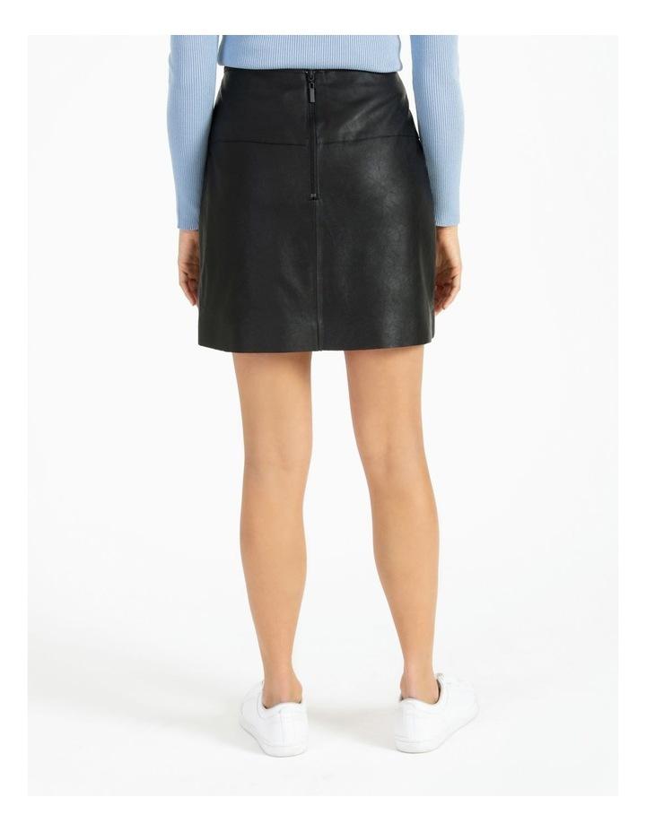 Faux Leather Asymmetrical Mini Skirt image 4